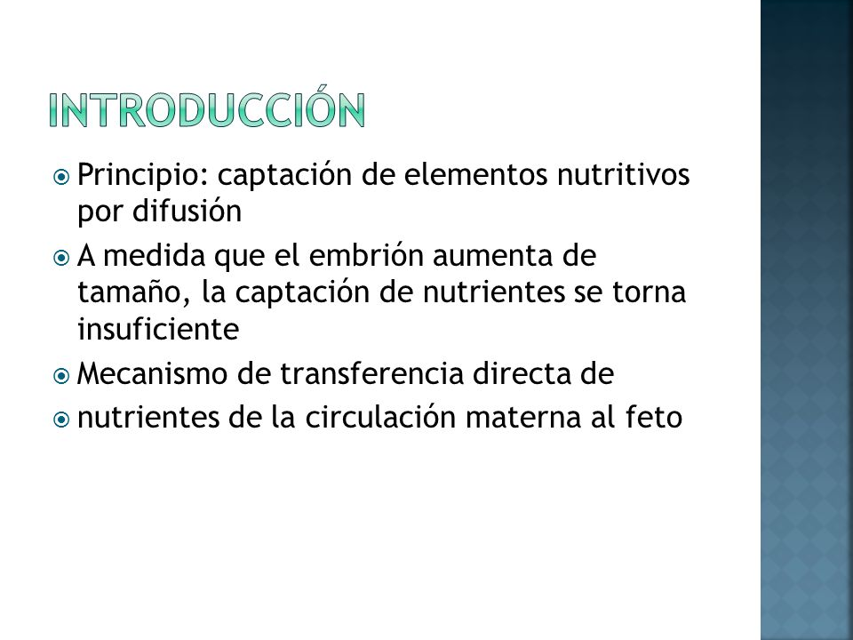 Introducción Principio: captación de elementos nutritivos por difusión