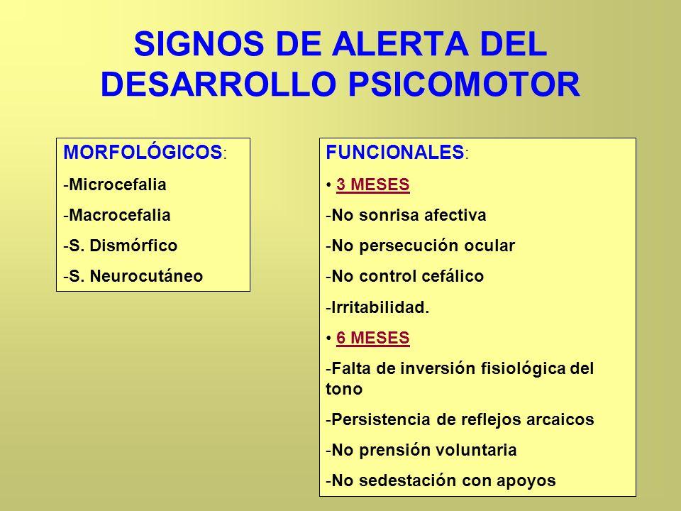 SIGNOS DE ALERTA DEL DESARROLLO PSICOMOTOR