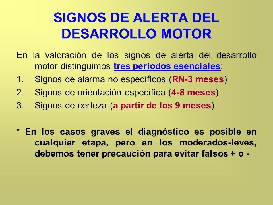 SIGNOS DE ALERTA DEL DESARROLLO MOTOR