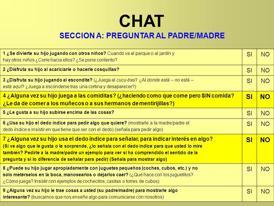 SECCION A: PREGUNTAR AL PADRE/MADRE