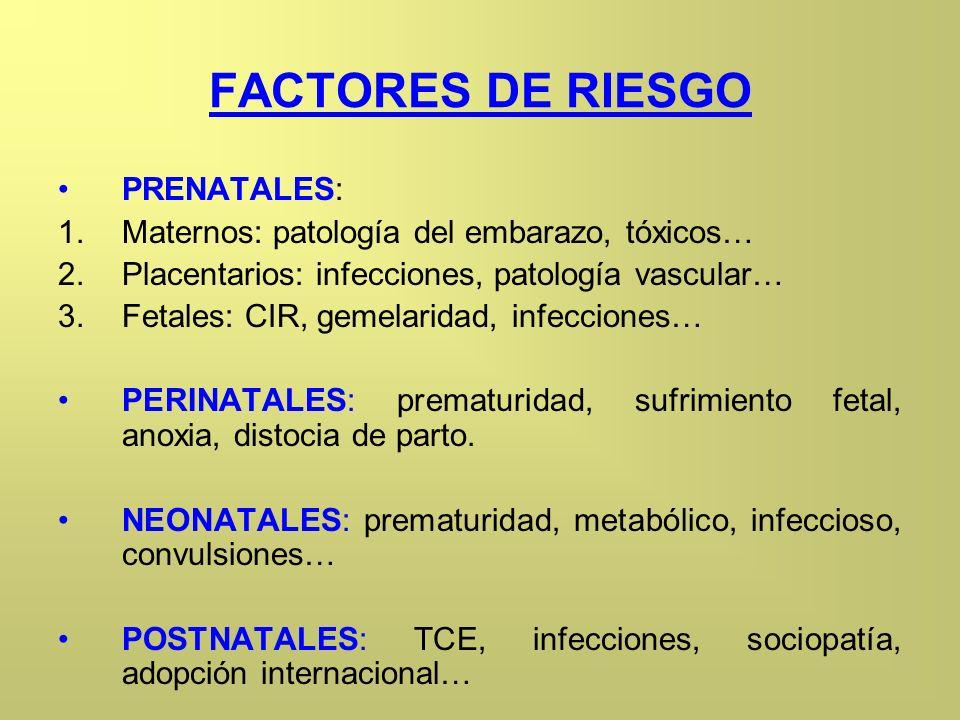 FACTORES DE RIESGO PRENATALES: