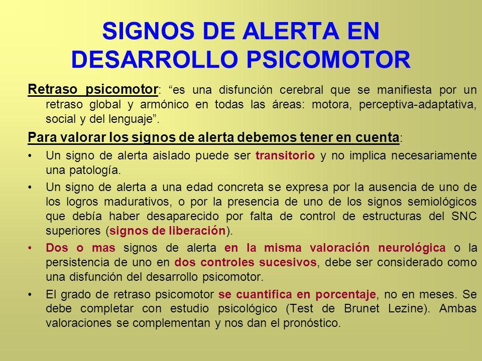 SIGNOS DE ALERTA EN DESARROLLO PSICOMOTOR
