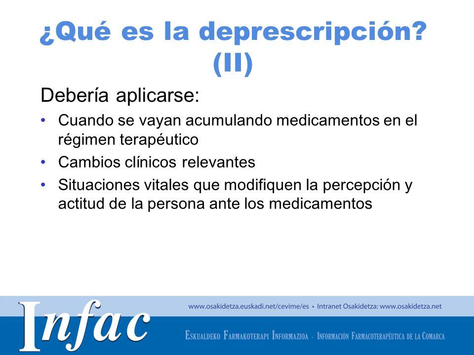 ¿Qué es la deprescripción (II)