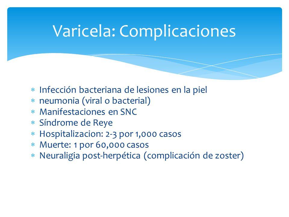 Varicela: Complicaciones