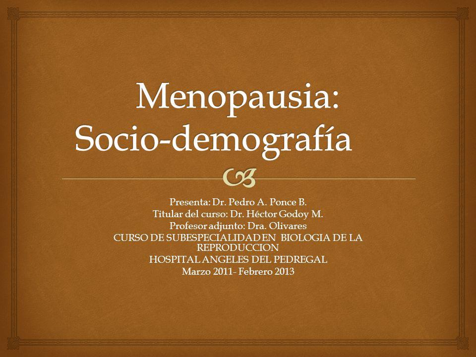 Menopausia: Socio-demografía