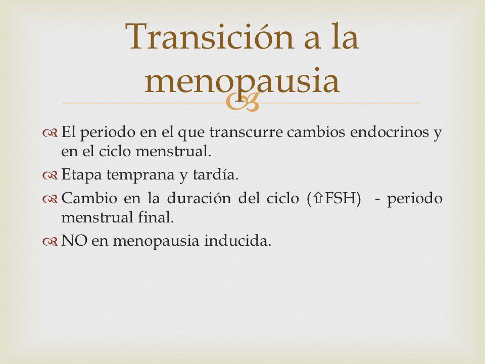 Transición a la menopausia