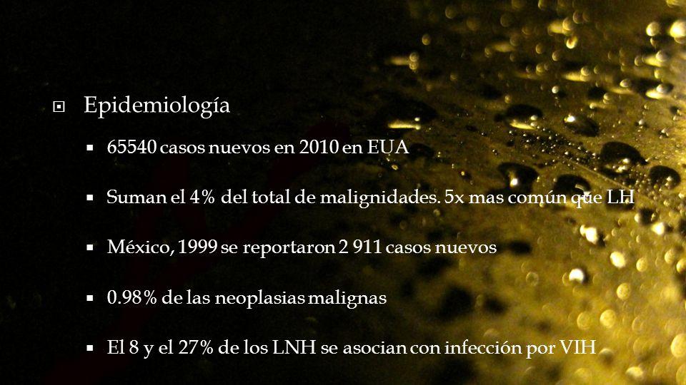 Epidemiología 65540 casos nuevos en 2010 en EUA
