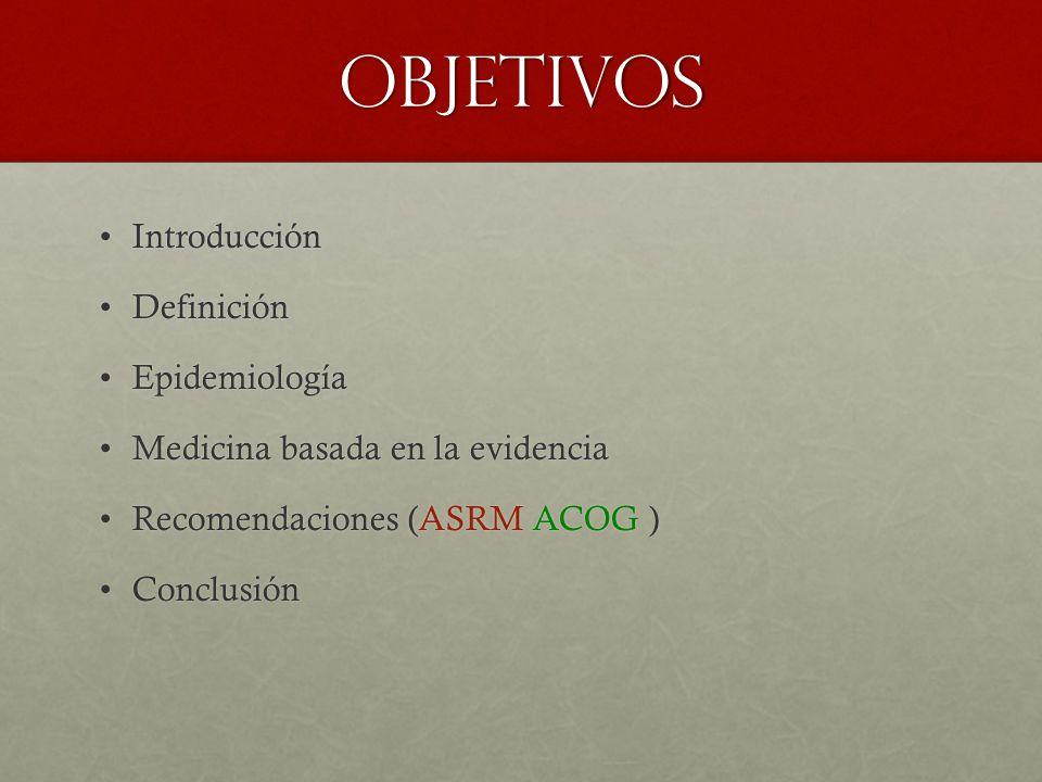 objetivos Introducción Definición Epidemiología