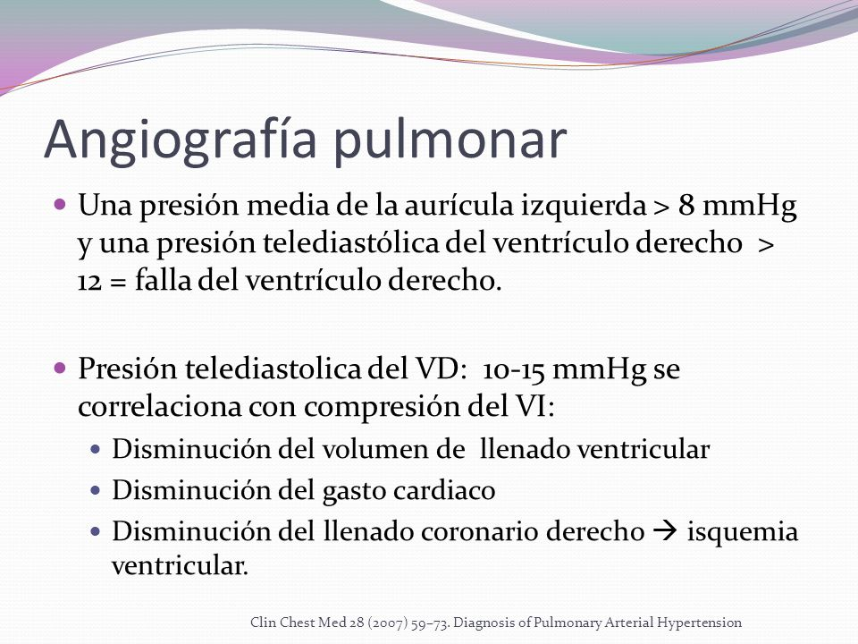 Angiografía pulmonar