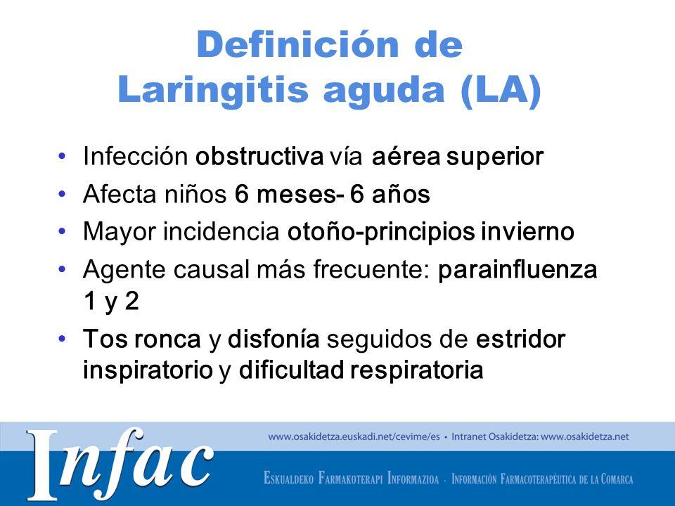 Definición de Laringitis aguda (LA)
