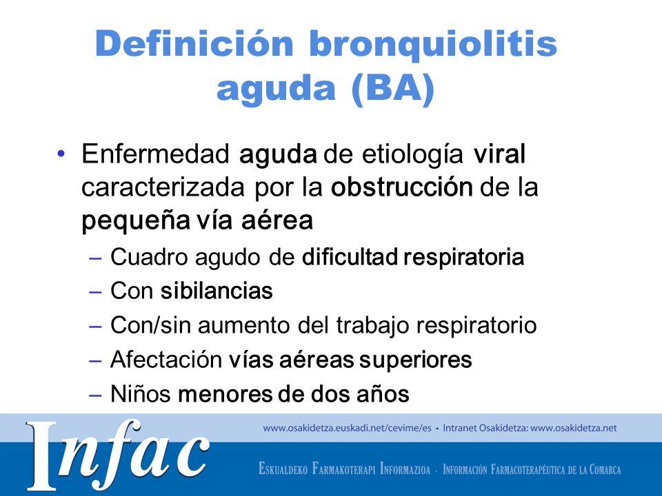 Definición bronquiolitis aguda (BA)