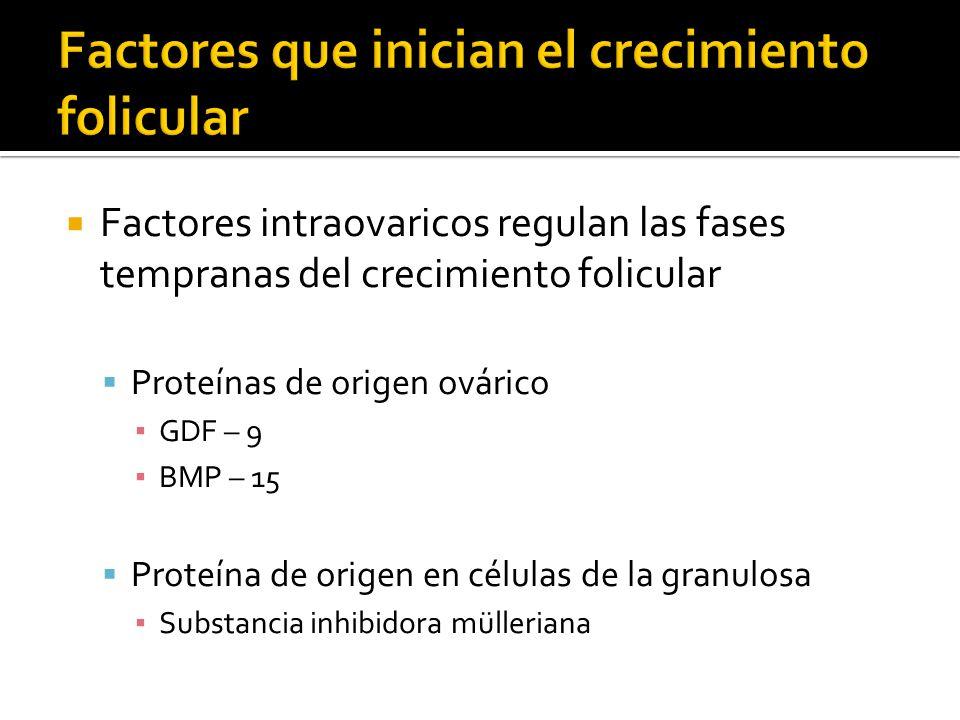 Factores que inician el crecimiento folicular