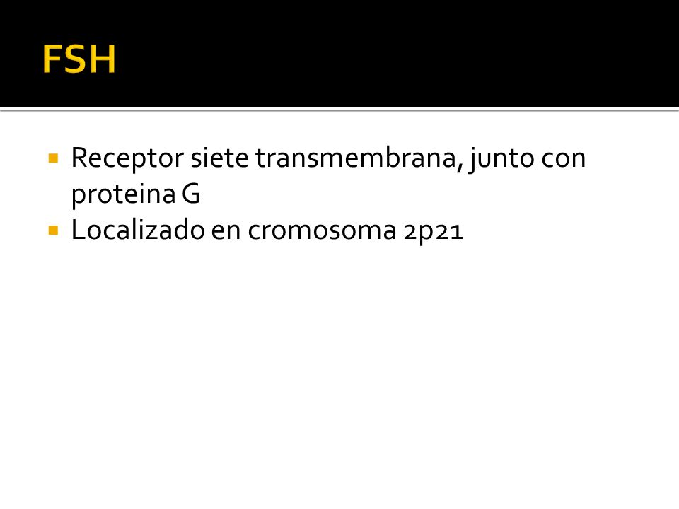 FSH Receptor siete transmembrana, junto con proteina G