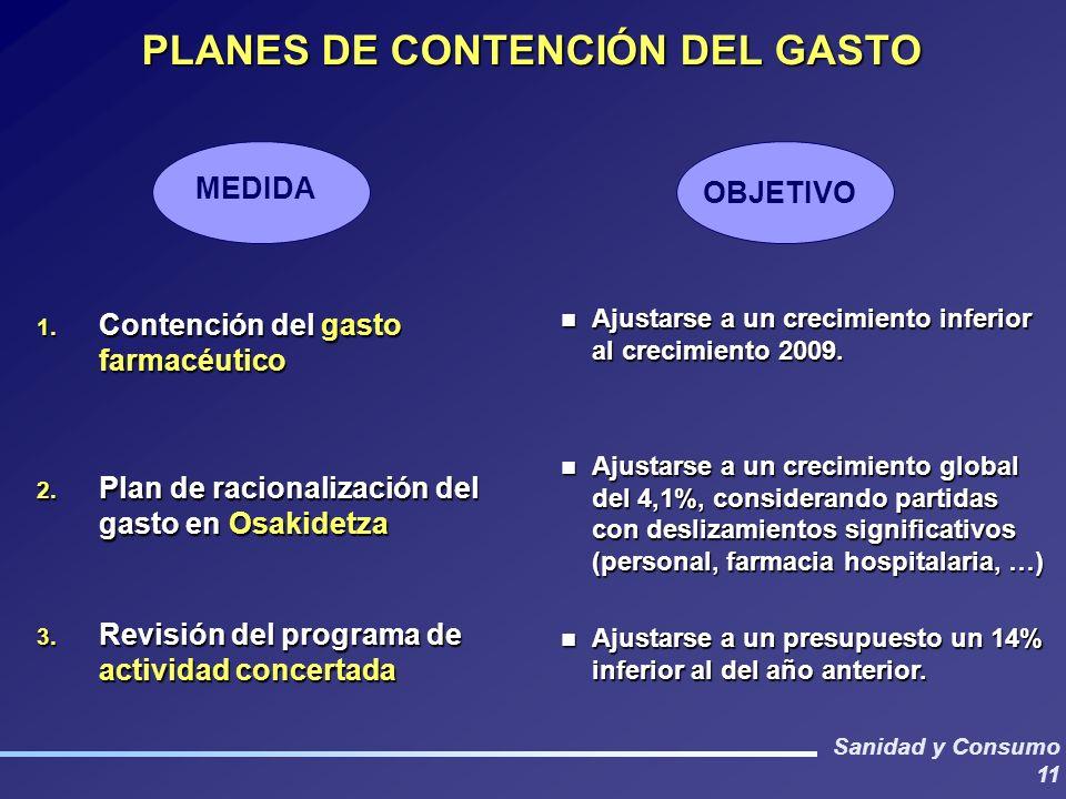 PLANES DE CONTENCIÓN DEL GASTO