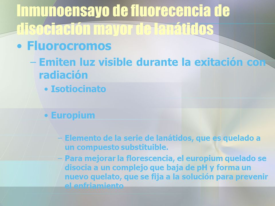 Inmunoensayo de fluorecencia de disociación mayor de lanátidos