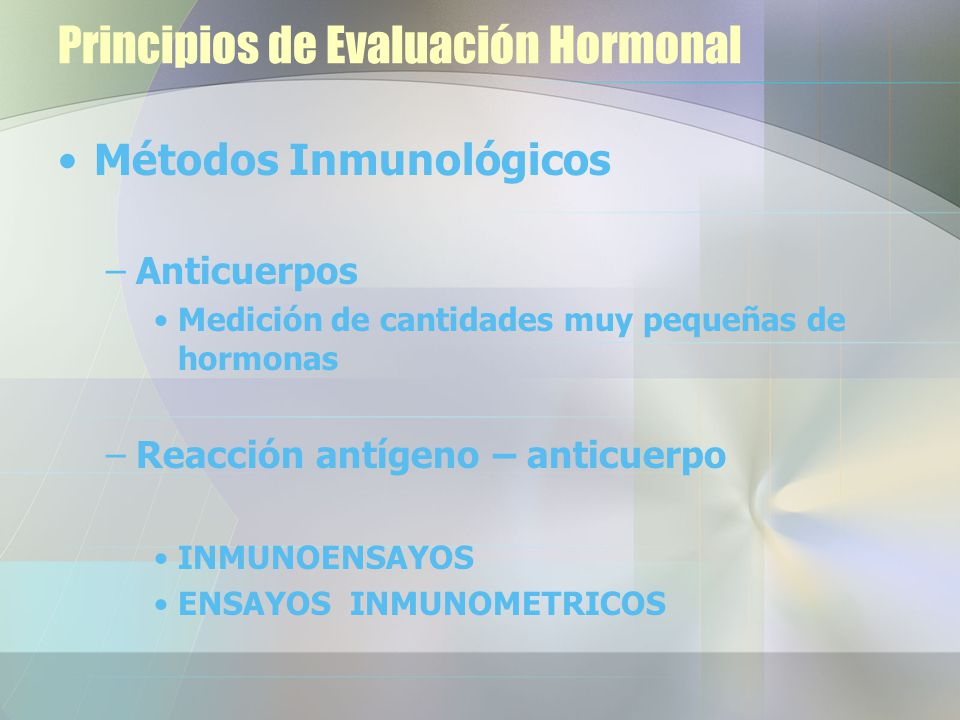 Principios de Evaluación Hormonal