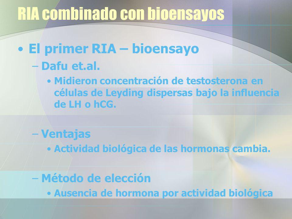 RIA combinado con bioensayos