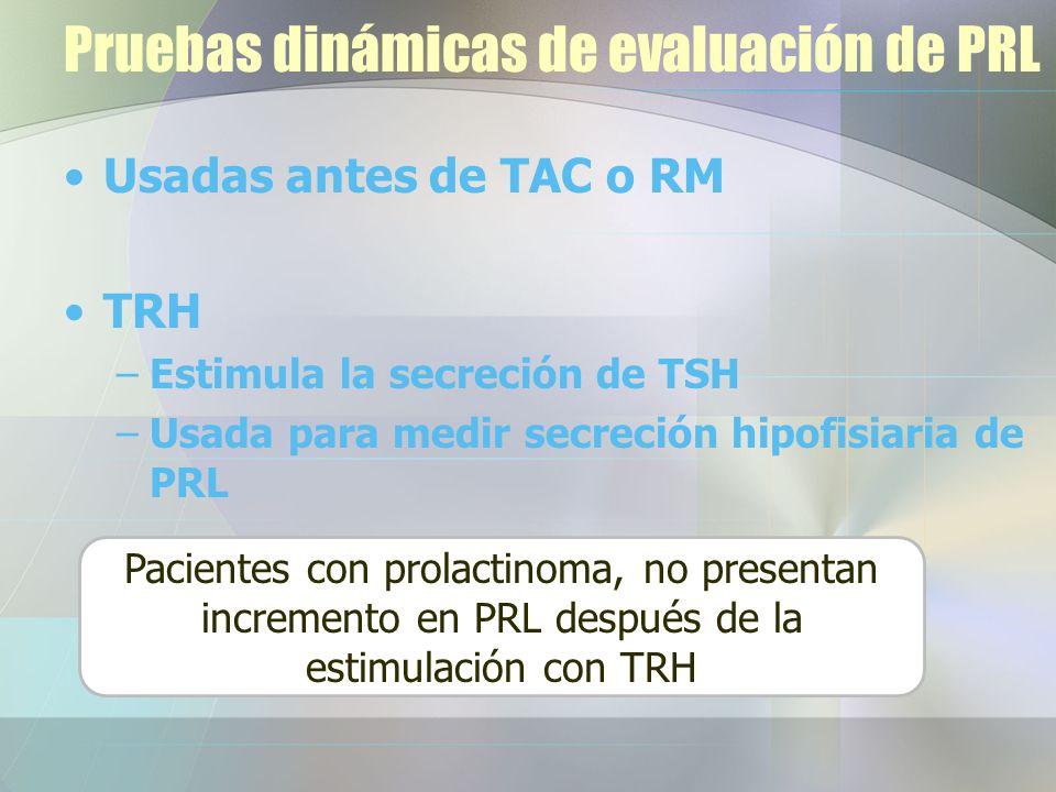 Pruebas dinámicas de evaluación de PRL