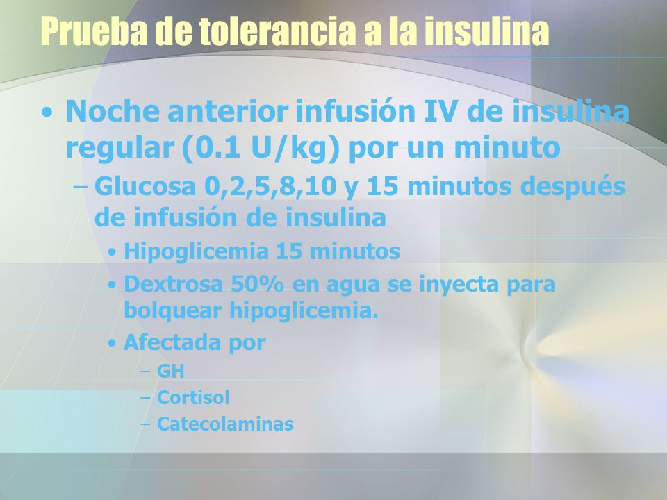 Prueba de tolerancia a la insulina