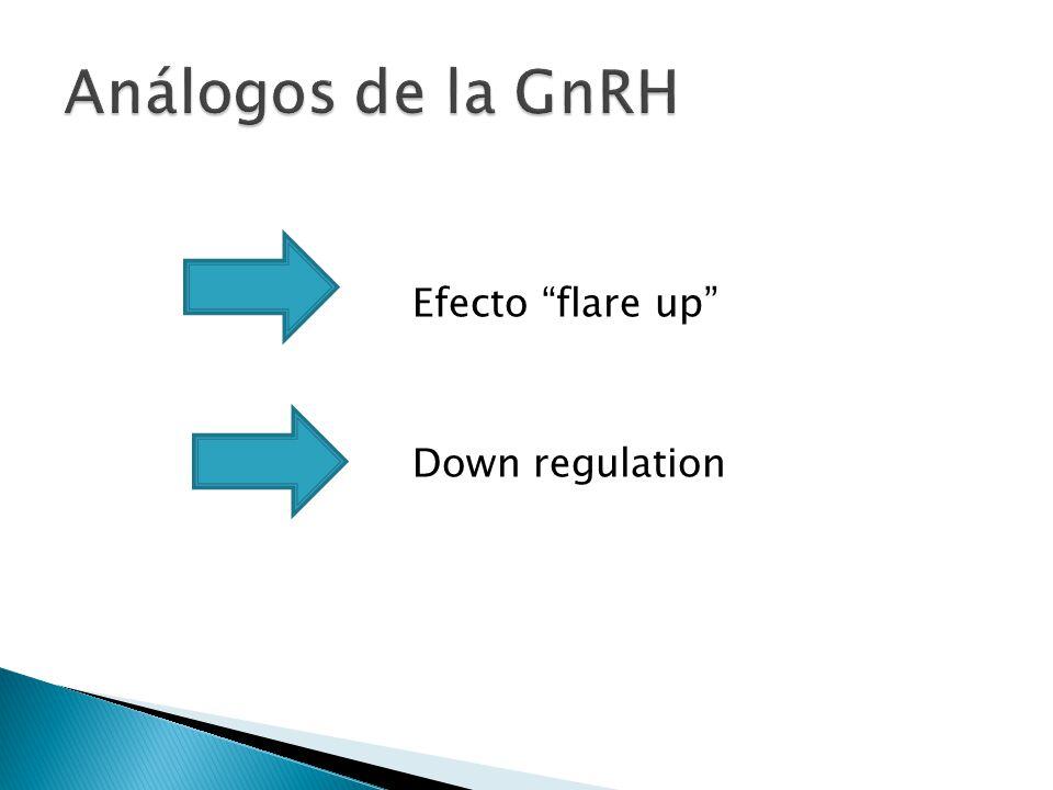 Análogos de la GnRH Efecto flare up Down regulation