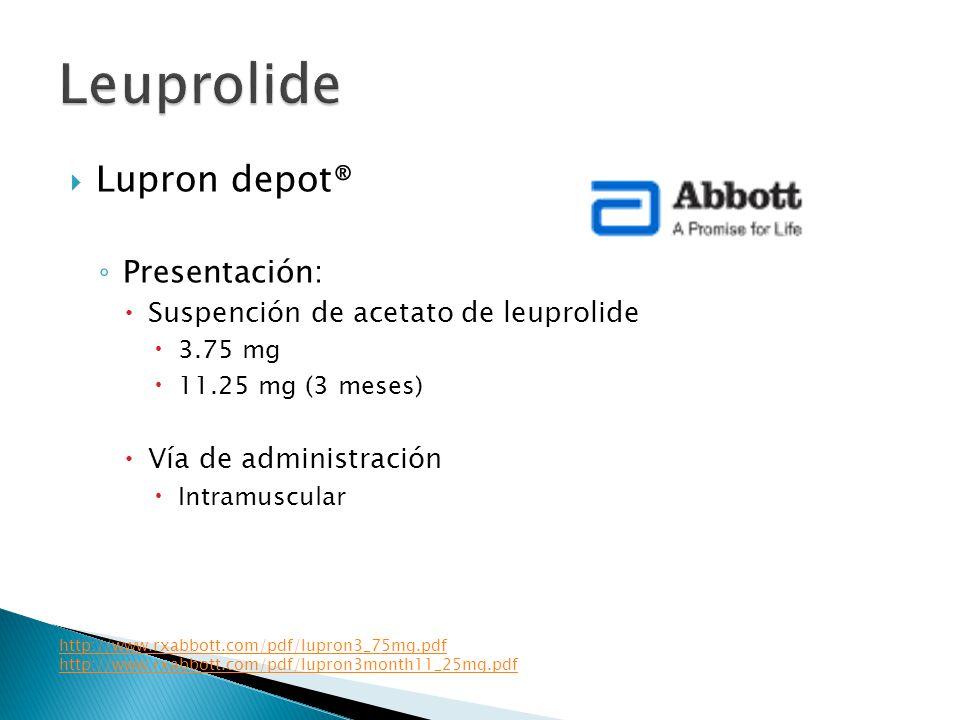 Leuprolide Lupron depot® Presentación: