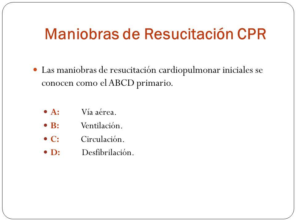 Maniobras de Resucitación CPR