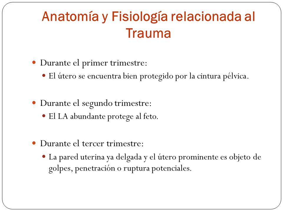 Anatomía y Fisiología relacionada al Trauma