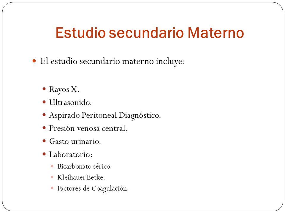 Estudio secundario Materno