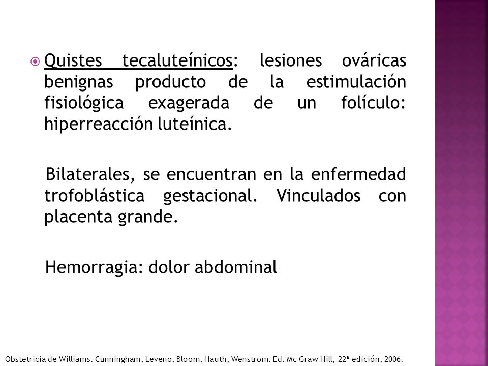 Hemorragia: dolor abdominal