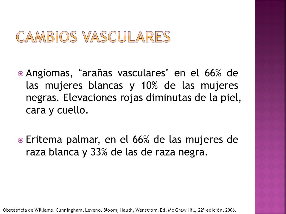 Cambios vasculares