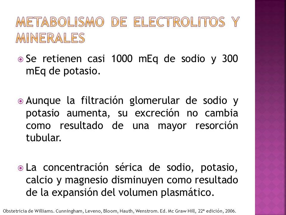 Metabolismo de electrolitos y minerales