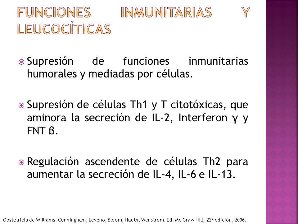 Funciones inmunitarias y leucocíticas