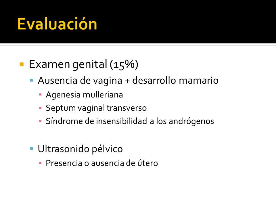 Evaluación Examen genital (15%)