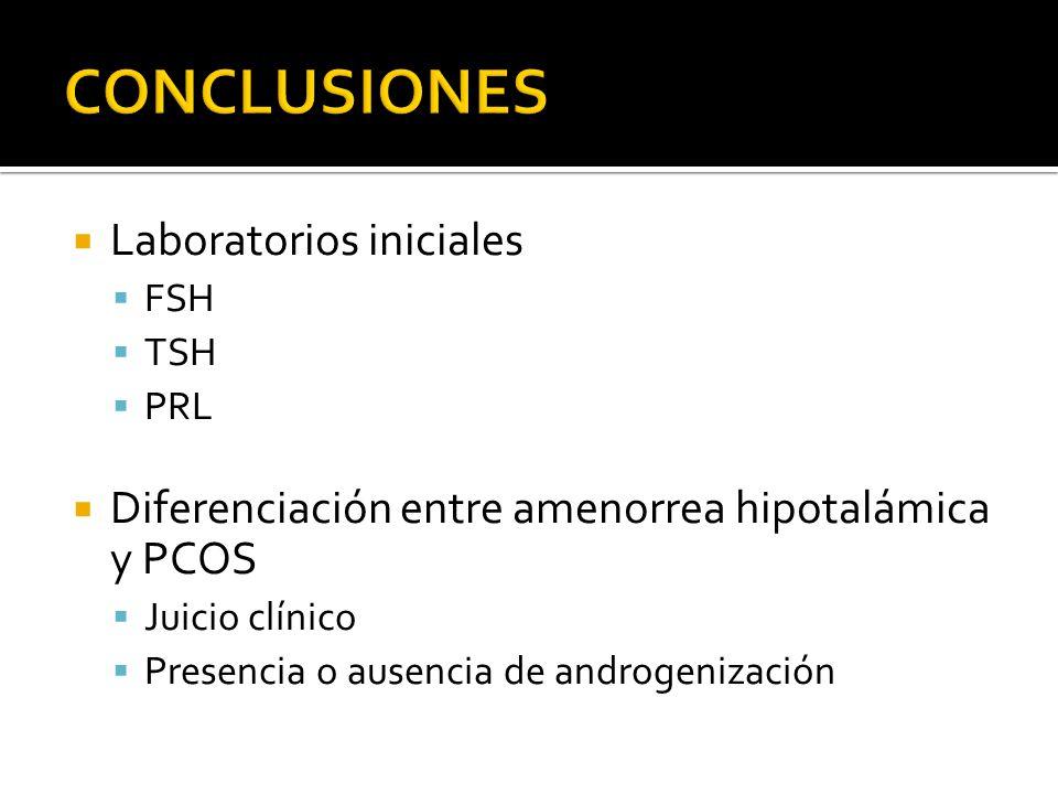 CONCLUSIONES Laboratorios iniciales