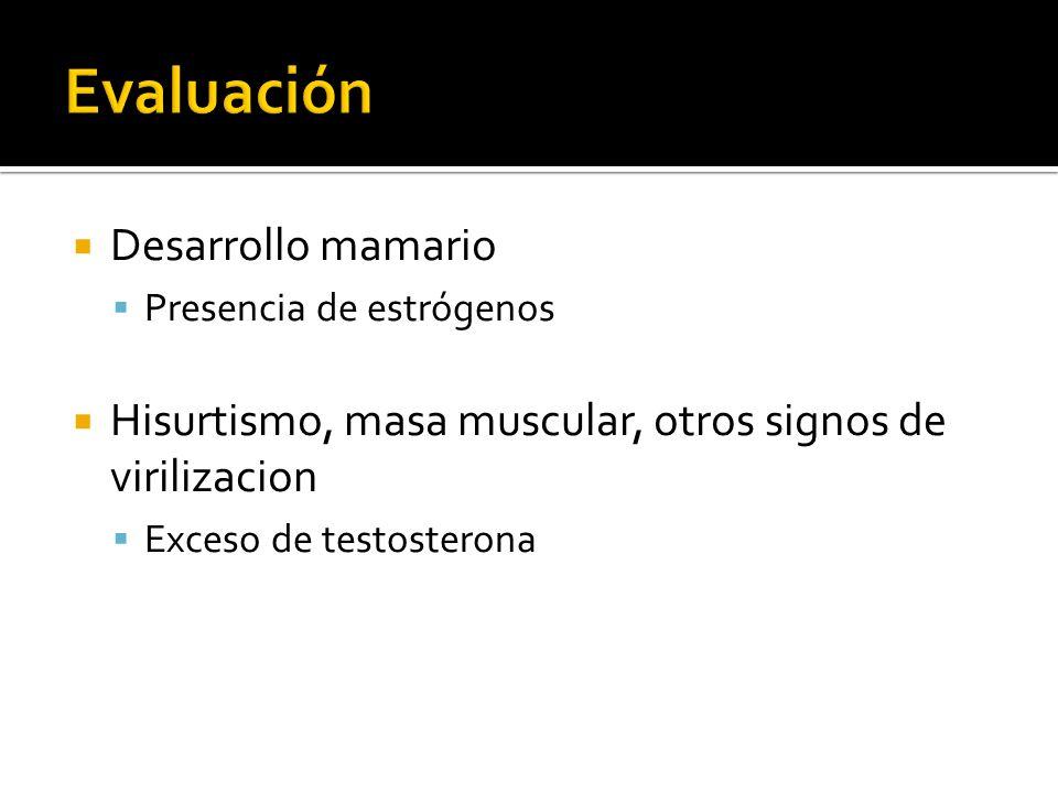 Evaluación Desarrollo mamario
