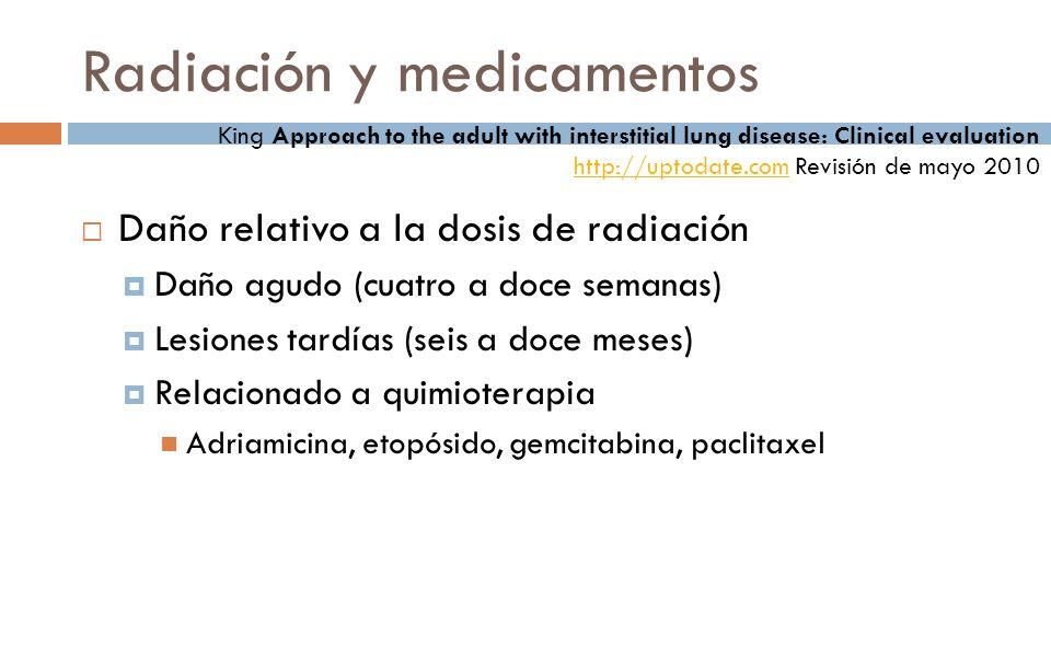 Radiación y medicamentos