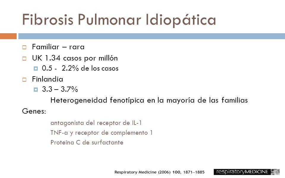 Fibrosis Pulmonar Idiopática