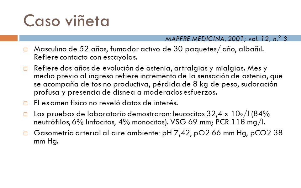 Caso viñeta MAPFRE MEDICINA, 2001; vol. 12, n.° 3.