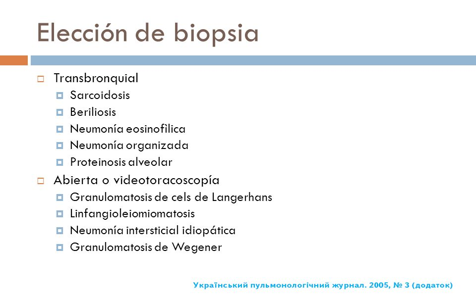Elección de biopsia Transbronquial Abierta o videotoracoscopía