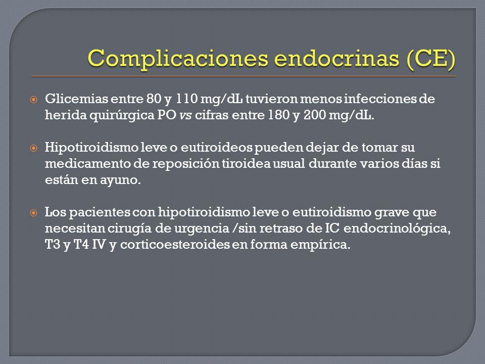 Complicaciones endocrinas (CE)