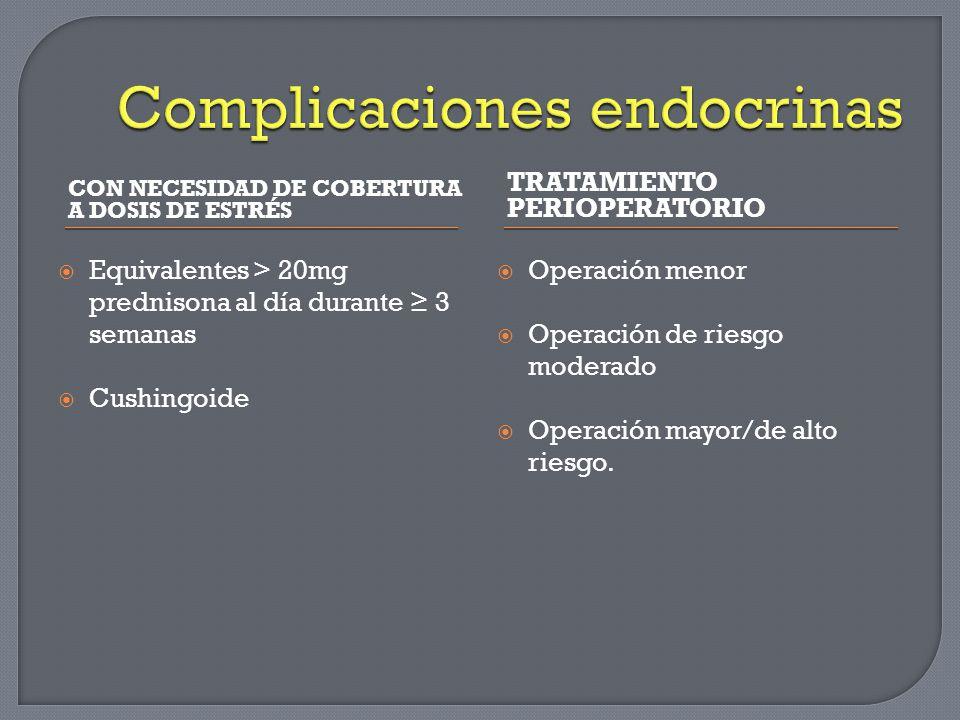Complicaciones endocrinas