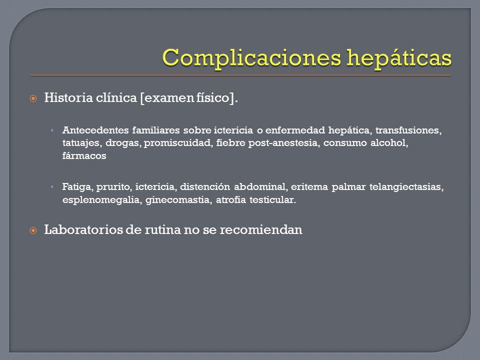 Complicaciones hepáticas