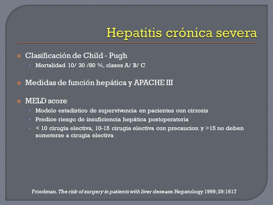 Hepatitis crónica severa