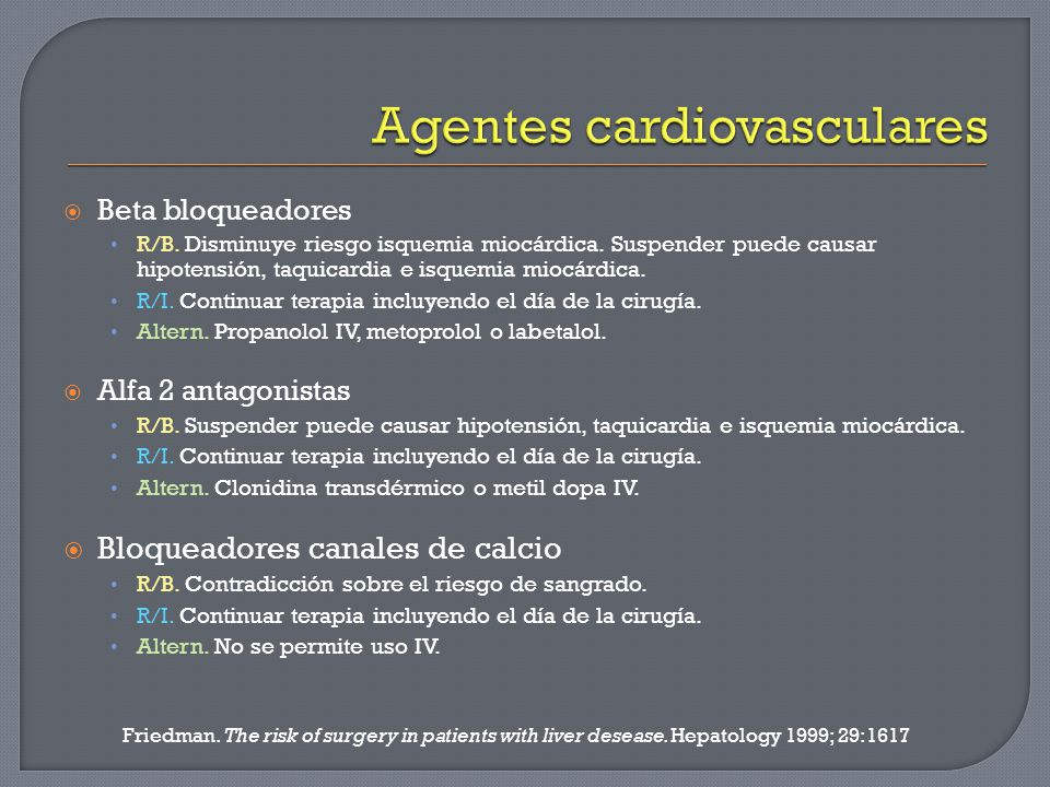 Agentes cardiovasculares