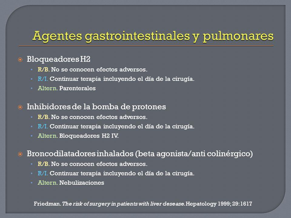 Agentes gastrointestinales y pulmonares