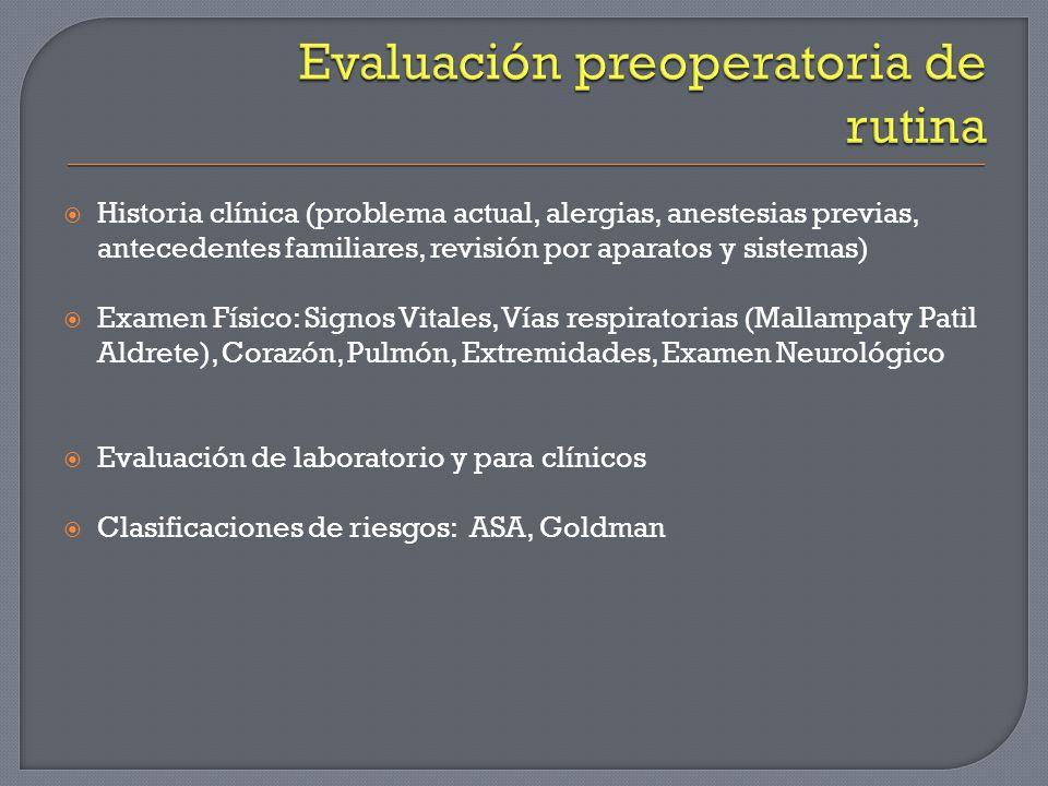 Evaluación preoperatoria de rutina
