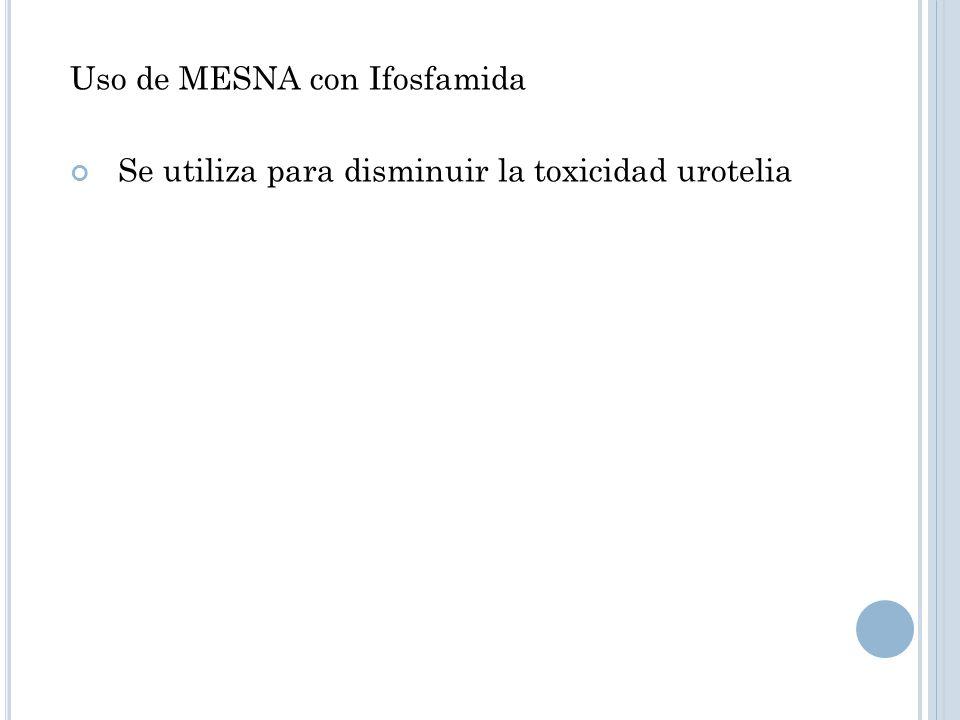 Uso de MESNA con Ifosfamida