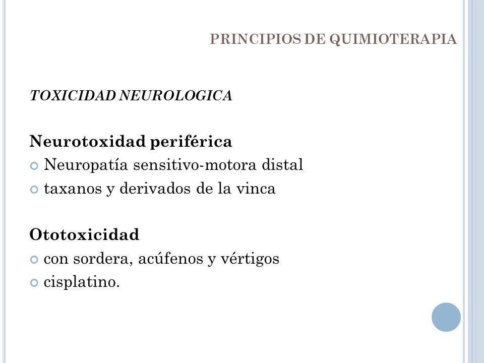 PRINCIPIOS DE QUIMIOTERAPIA