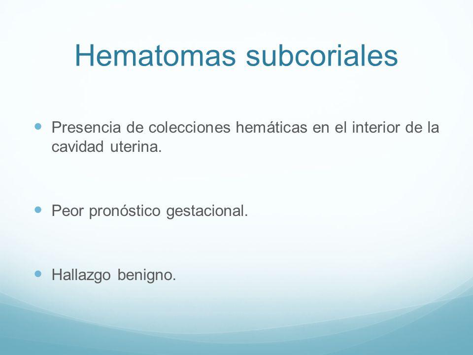 Hematomas subcoriales