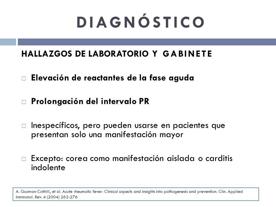 DIAGNÓSTICO HALLAZGOS DE LABORATORIO Y GABINETE
